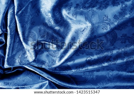 texture, background, dark blue, navy blue, sapphirine,  blushful fabric with a paisley pattern. based on traditional Asian elements #1423515347