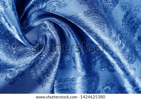 texture, background, dark blue, navy blue, sapphirine,  blushful fabric with a paisley pattern. based on traditional Asian elements #1424625380