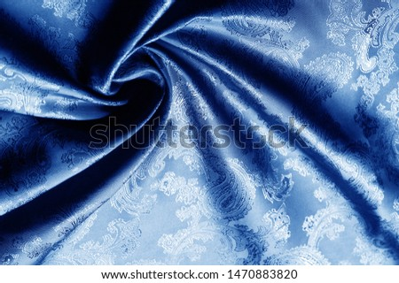 texture, background, dark blue, navy blue, sapphirine,  blushful fabric with a paisley pattern. based on traditional Asian elements #1470883820