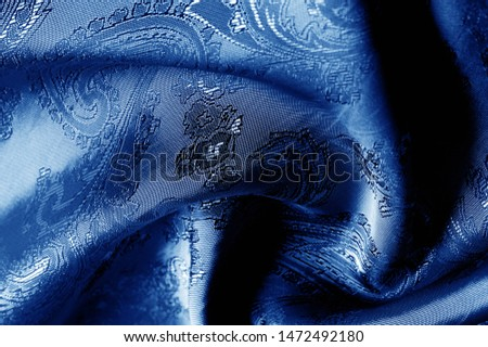 texture, background, dark blue, navy blue, sapphirine,  blushful fabric with a paisley pattern. based on traditional Asian elements #1472492180
