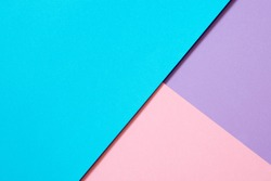 texture background of fashionable pastel color with top view, minimal concept, flat lay: blue, light purple and pink