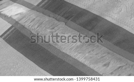 texture background pattern. black and white fabric.  #1399758431