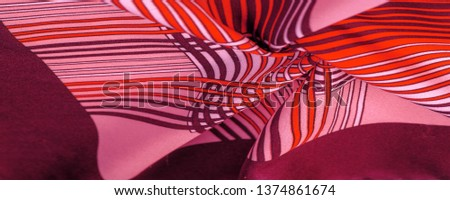 Texture, background, pattern, brown silk fabric, geometric lines, a pattern of tribal straight lines of different shades, geometric pattern, set for your projects, red and white #1374861674