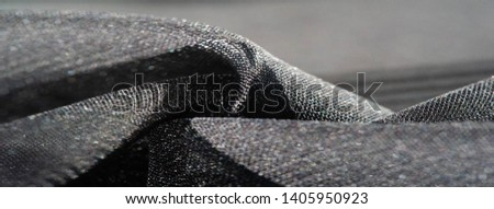 texture, background, pattern, collection, light transparent silk fabric with stripes of different size, black. exquisite luxury for your holiday! #1405950923
