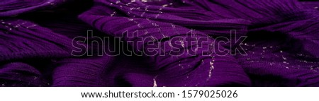 Texture background pattern, decor ornament, dark lilac corrugated fabric of blue cent, Fabric with parallel or diagonal folds of dentate folds; products from such a fabric. #1579025026