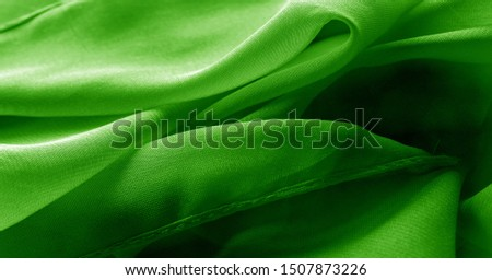 texture, background, pattern, green salad, silk fabric This very lightweight fabric made of artificial silk has a pleasant sheen. Ideal for adding elegance to your internet decor projects.