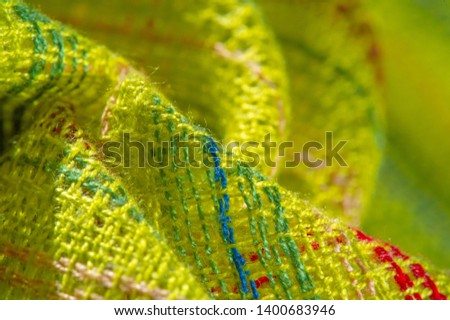 Stock Photo texture, background, pattern, postcard, fabric green light green striped red-blue yellow lines, Brand: