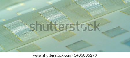 texture, background, pattern, postcard, silk fabric with metal square platinum accents, edged with a gold line, pastel colors of ivory, this is exactly what you need for your projects