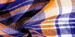 Texture, background, pattern, Scottish culotte fabric, blue and white, yellow,