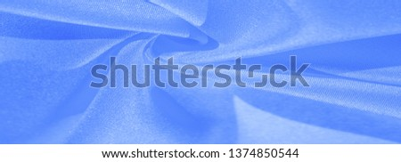 Texture, background, pattern, silk blue fabric. Crepe satin on the back is an excellent fabric for design, on the one hand it has a satin finish, and on the other - crepe, which makes it reversible, #1374850544