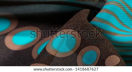 texture, background, pattern, wallpaper. brown silk fabric pattern. This medium-weight rayon fabric has a nice shine with slight color variations. Perfect for adding elegance to your designs. #1418687627