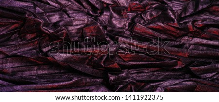 texture background pattern wallpaper silk fabric black with red stripes, wrinkled fabric, your project will acquire sophistication and brevity this unusual texture is exactly what you need