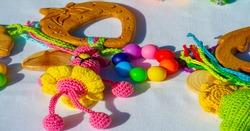 Texture, background, pattern, wooden children's toys. childish, childlike, baby, childly, children's, infant