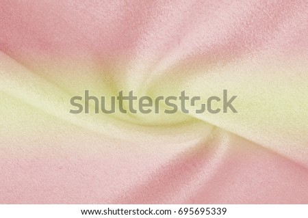 Texture, background, pattern. Woolen fabric for outer clothing, yellow red. #695695339