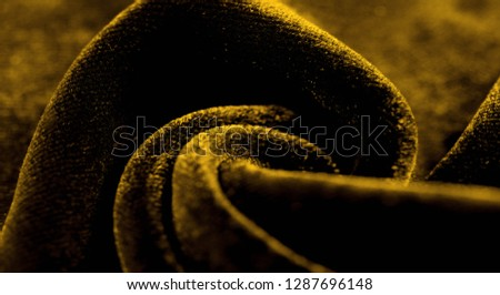 Texture background, pattern. Yellow Velveteen This magnificent elastic velor fabric has a velvet pile. Pan Pan adds shine and texture! It has a knitted back and is great for your design. #1287696148