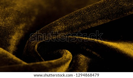 Texture background, pattern. Yellow Velveteen This magnificent elastic velor fabric has a velvet pile. Pan Pan adds shine and texture! It has a knitted back and is great for your design. #1294868479