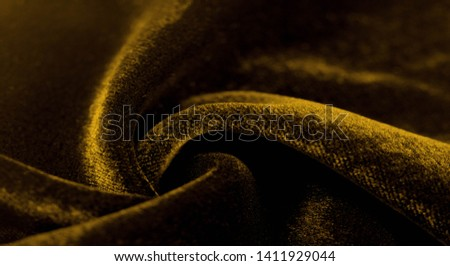 Texture background, pattern. Yellow Velveteen This magnificent elastic velor fabric has a velvet pile. Pan Pan adds shine and texture! It has a knitted back and is great for your design. #1411929044