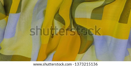 Texture, background, silk fabric pattern, oblong rhombus, bohemian print, decorative fabrics for your design and project accents, multicolor grunge yellow gray pale lilac