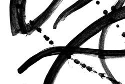 texture background splash and paint black ink