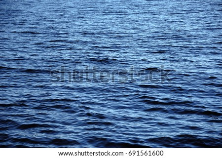 Texture / background / wallpaper of blue wave water for design #691561600