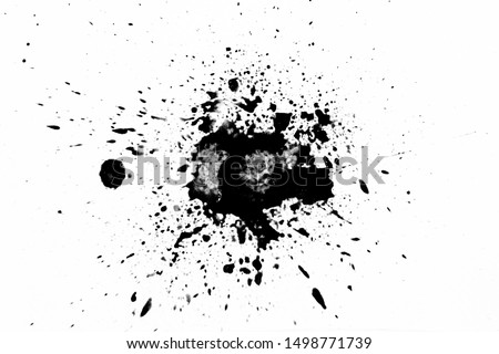 Photo of  texture black ink white background