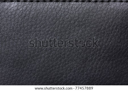 texture Black leather bag