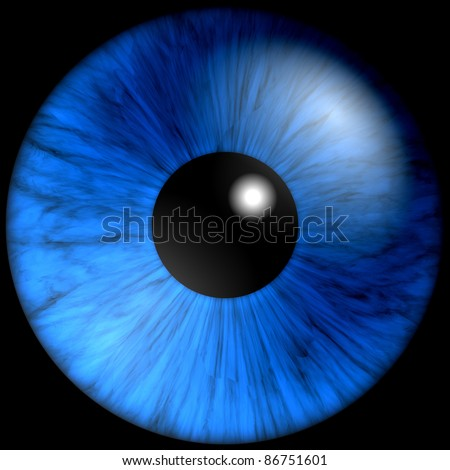 texture blue eyes on a black background