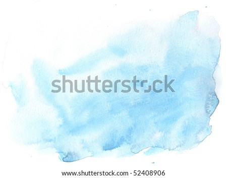 stock photo : texture blue watercolor background painting - with space for