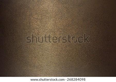 texture bronze color leather close-up horizontal position