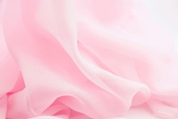 Texture chiffon fabric pink color for backgrounds
