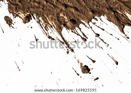 Texture clay moving in white background #169823195