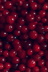 texture cranberries red berries fresh northern vitamins abstract background