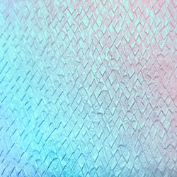 Texture embossed decorative paper with transition of color from turquoise to pink. Beautiful colorful embossed paper with pattern in form of rhombuses.