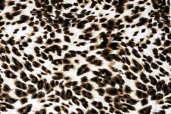 Texture fabric of leopard skin for background