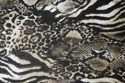 Texture fabric of leopard skin for white and white background
