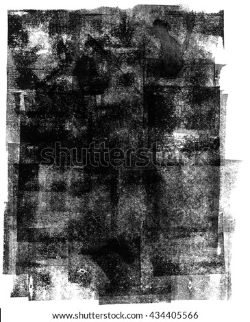 texture: hand made rolled ink - great for letterpress effects, as overlay or mask Stock photo ©