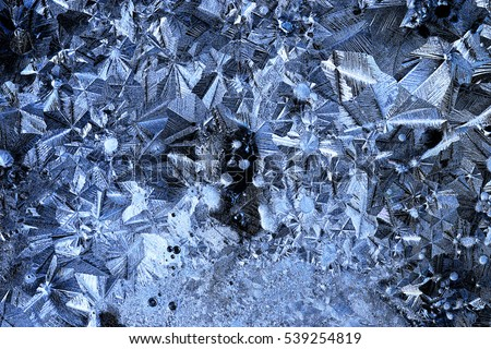 texture ice crystals blue cold background #539254819