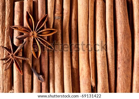 Texture image cinnamon sticks.