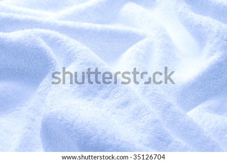 TEXTURE IMAGE-wrinkles of the blue towel