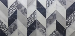 texture marble tile surface with abstract geometric ornamental mosaic pattern