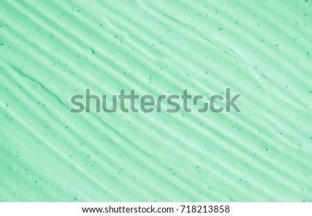 Texture mask clay scrub green. Selective focus.