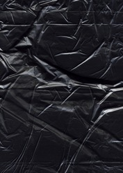 Texture of a black plastic bag