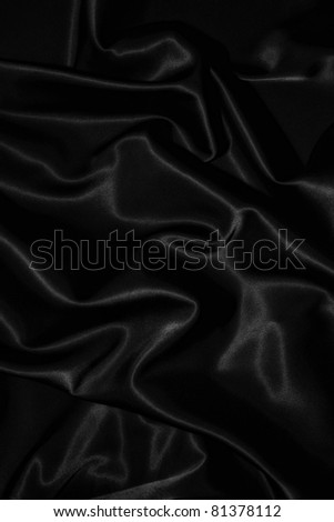 texture of a black silk close up