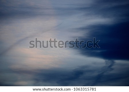 texture of a cloudy blue sky #1063315781