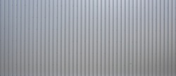 Texture of a corrugated sheet metal aluminum facade
