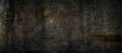Texture of a grungy black cement wall as background