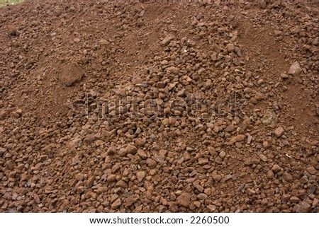 Texture of a pile of brown soil