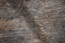 Texture of a rustic old wooden plank is gray with natural blotches and lines.