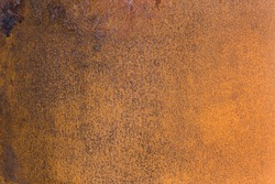 Texture of an aged and heavily rusted  surface of steel tank.