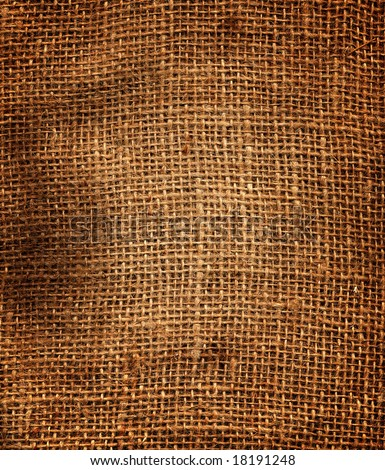 Texture of an old dirty potato sack.